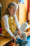 Little girl dressing up. Stock Photography