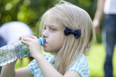 Little girl drink water Royalty Free Stock Photo