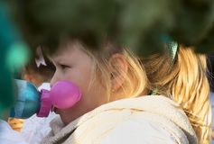 Little girl is drinking water. Beautiful little girl is drinking water Royalty Free Stock Image