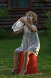 Little girl drinking water Royalty Free Stock Photos