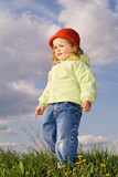 Little girl in the early spring afternoon Royalty Free Stock Photo