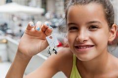 Little girl with earrings Stock Photography