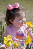Little girl at Easter Stock Photography