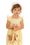 Little girl with Easter basket Stock Photography