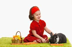 Little girl with Easter bunny Royalty Free Stock Photography