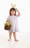 Little girl in Easter costume Stock Photos