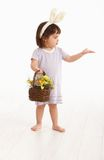 Little girl in Easter costume Royalty Free Stock Images