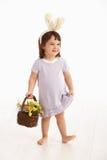 Little girl in Easter costume Stock Image