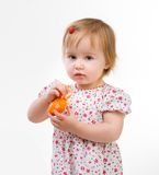 Little girl with easter egg Royalty Free Stock Image