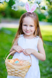 Little girl with Easter eggs Stock Image