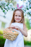 Little girl with Easter eggs Royalty Free Stock Image