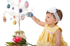 Little Girl Easter Portrait Royalty Free Stock Photos