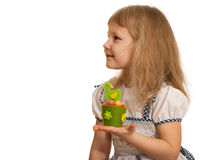 Little girl with Easter toy Royalty Free Stock Photos