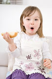 Little Girl Eating Royalty Free Stock Photography