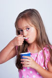 Little Girl Eating Royalty Free Stock Photos