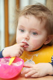 Little girl eating Royalty Free Stock Photo