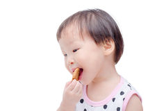 Little girl eating cookie Stock Photography