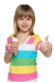 Little girl eating ice cream Royalty Free Stock Photos