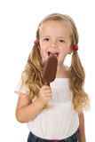 Little girl eating icecream Stock Photo