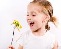 Little girl eating vegetable salad Royalty Free Stock Image