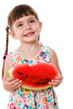 Little girl eating a watermelon Stock Photography