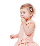 Little girl eats Royalty Free Stock Image
