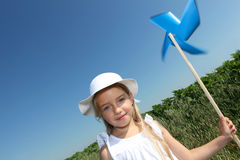 Little girl and ecology Stock Photography