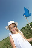 Little girl and ecology Royalty Free Stock Photography