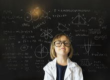 Little Girl Education Blackboard Concept. Little Girl Education Learning Blackboard Stock Images
