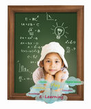 Little girl with education Royalty Free Stock Photos