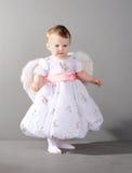 Little girl in an elegant dress Stock Image