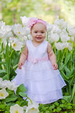 Little girl in an elegant dress Stock Photos