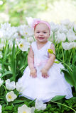 Little girl in an elegant dress Royalty Free Stock Photography