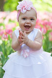 Little girl in an elegant dress Royalty Free Stock Images