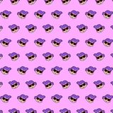Little girl - emoji pattern 12. Pattern of a emoji little girl that can be used as a background, texture, prints or something else stock illustration