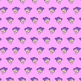 Little girl - emoji pattern 19. Pattern of a emoji little girl that can be used as a background, texture, prints or something else stock illustration