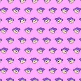 Little girl - emoji pattern 44. Pattern of a emoji little girl that can be used as a background, texture, prints or something else royalty free illustration
