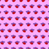 Little girl - emoji pattern 65. Pattern of a emoji little girl that can be used as a background, texture, prints or something else royalty free illustration
