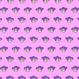 Little girl - emoji pattern 69. Pattern of a emoji little girl that can be used as a background, texture, prints or something else royalty free illustration