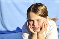 Little girl emotions. Royalty Free Stock Photography