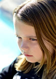 Little girl emotions. Royalty Free Stock Photos