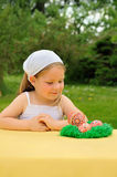 Little girl enjoying Easter time Royalty Free Stock Photo