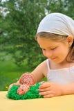 Little girl enjoying Easter time Royalty Free Stock Photo