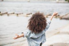 Little girl enjoying with freedom Stock Images