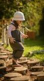 Little girl enjoying nature Stock Photo