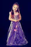 A little girl in an evening dress Royalty Free Stock Photography