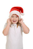 Little girl excited about christmas Stock Photos