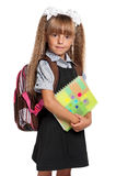 Little girl with exercise books Royalty Free Stock Photography