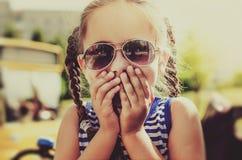 Little girl expressing amazement Stock Photos