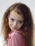 Little girl expressing photo model Stock Images